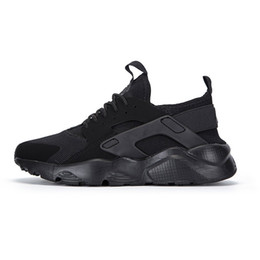 Wholesale Men Multicolor Shoes - New Air Huarache IV 4.0 Ultra Running shoes Huraches trainers for men & women Multicolor shoes Triple Huaraches sneakers 36-46 With Box