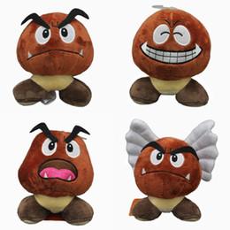 """Muñeca goomba online-Hot New 4 Estilos 5.5 """"14 CM Super Mario Bros Goomba muñeca de peluche Anime coleccionable muñecas colgantes rellenos regalos de la fiesta juguetes de peluche"""