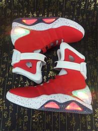 Chargeur chaussures en Ligne-AIR MAG Retour Future led chaussures haute top Marty FlLy chaussures colorées à led pour hommes Luxe Gris Noir chargeur Mag Limited Edition Sneakers 6