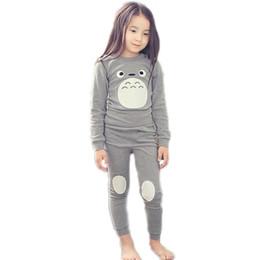 ropa de dormir totoro Rebajas 2017 Primavera Ropa para niños Algodón para niños Pijamas Conjunto de ropa Totoro Moda Pijama Infantil Niños Niños Ropa de dormir Niñas Ropa de dormir