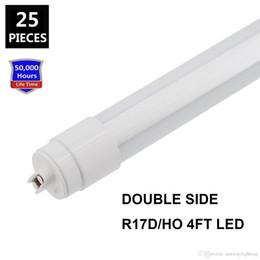 Wholesale double side led light box - 360 degree Emitting T8 Double Side LED tube lights G13 R17D Rotating 4ft 28W 6ft 42W 8ft 65w Sign Box Lighting LED Lights