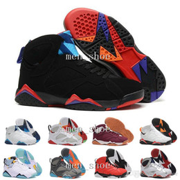 Wholesale Genuine Leather Boots For Cheap - [With Box]Wholesale 7 Basketball Shoes Men 2016 North blue N7 Boots High Quality Sneakers For Sale Cheap Sports Shoes Free Shipping