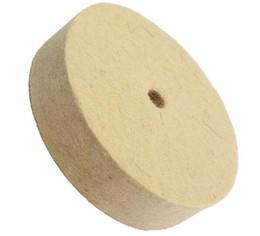 Polidor de roda on-line-Atacado 4 Polegada 100mm Lustro De Polimento De Polimento Lã Sentiu Polisher Disc Pad