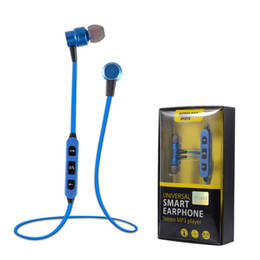 Wholesale Noise Canceling Bluetooth Headsets - ST-009 Earphone Magnetic Sport Bluetooth Headset Wireless Earphone V4.1 with Microphone Stereo sound Noise Canceling