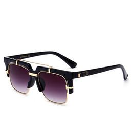 Wholesale male sunglass - 2018 Luxury Square Sunglasses Men Women Unisex Vintage Shades Driving Polarized Sunglass Male Sun Glasses Fashion Metal Plank Sunglass