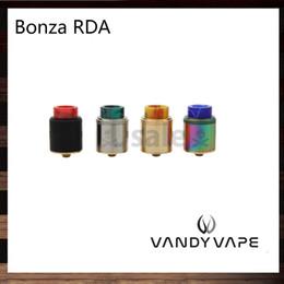Vis de serrage en métal en Ligne-Poteau de serrage à vis fixe Vandy Vape Bonza RDA 24mm à simple ou double enroulement pour Squonk et 510 PIN Conçu par The Vaping Bogan 100% Original