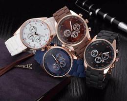 Wholesale Japan Wrist Watches - RMN Fashion Popular Top Brand Men's Sport Watches Soft Silicone Band Date Calendar Quality Japan Quartz Wrist Watch Relogio Masculino