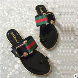Wholesale Womens Bow Sandals - 018 mens and womens fashion 10MM Satin slide FLATS slide sandals with Web bow summer outdoor beach flat flip flops adults slippers