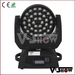 Wholesale led color wash - Free shipping 2pcs LED wash moving head with zoom 36*10W RGBW 4in1 color stage light for nightclub party & event