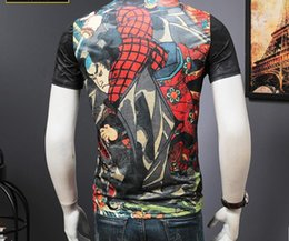 Wholesale Tattoos Sleeves Patterns - Men's Casual Japan Ukiyoe Design T Shirt Tattoo Printing Slim Fitted Skull Pattern Tops Tee Shirts For Men High Quality