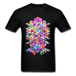 customize shirt design Canada - Cotton Tshirt Men T Shirt Customized T-shirts Kick Of Freshness Tops Hip Hop Tees 2018 New Geometric Design Clothes Colorful