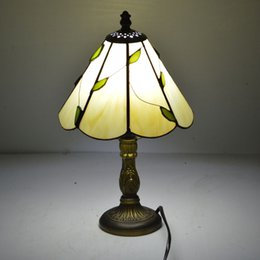 Wholesale Deco Art Glass Stain - Stained Glass Lampshade Tiffany Table Lamp Fresh Country Bedside Lamp E27 110-240V