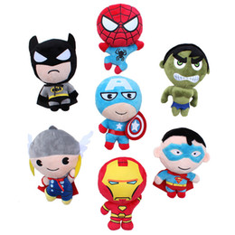 "Wholesale Hulk 11 - New The Avengers Captain America Spider man Thor Iron man Hulk Superman Plush Doll Stuffed Toy For Baby Gift (7 Style - Size : 8"" 20cm )"