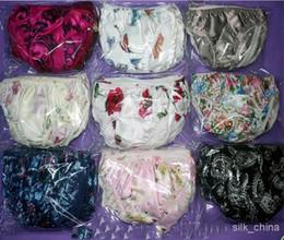 Wholesale ladies silk underwear - 10 pcs ladies panties silk briefs Prints women's Underwear