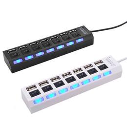 China schalter online-7 Ports USB 2.0 High Speed Hub 480 MBit / s Switch Hub USB Splitter für PC-Laptop-Computer-Peripheriegeräte