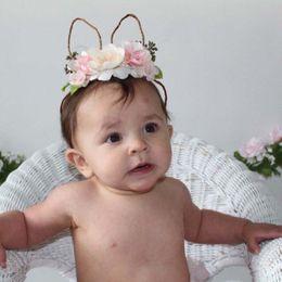 Wholesale Cute Headbands For Babies - New 2018 Baby Headbands 3D Flower Girls Hair Sticks cute floral Headbands For Girls Baby Hair Accessories Girls Headbands Baby Gift A1649