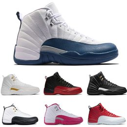 Wholesale snow boots for women cheap - NEW 2018 Cheap 12 XII Mans Basketball Shoes Sneakers Women Taxi Playoffs Gamma Blue Grey Sports Running Shoes For men US 5.5-13