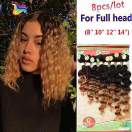 1B 30 Brasileño Onda Profunda Onda del pelo Ombre Borgoña 8Bundles / Lote para una cabeza 100% Original Cabello humano teje Kinky Jerry Curly desde fabricantes