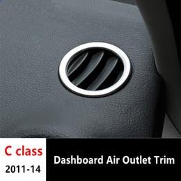 2019 anello benz benz Presa aria condizionata cruscotto Rivestimento copriforo per Mercedes Benz classe C W204 acciaio inox 2011-14 sconti anello benz benz