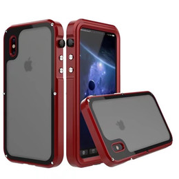 Wholesale iphone cover champagne - Metal Seal IP68 Waterproof Snowproof Dropproof Dirtproof Shockproof Cell phone Cases Cover For iphone X 7 8 plus