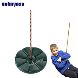 Wholesale red seats - Indoor Outdoor Kids Baby Playground Hanging PVC Garden Swing Set Children Rotating Play Tree Daisy Rope Disco Swing Seat high qu