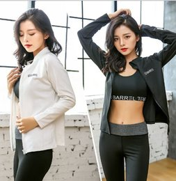 korean yoga clothes Promo Codes - Female autumn and winter Korean version three-piece yoga clothes fitness outdoor sports running speed suit 0030