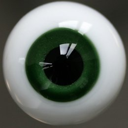 Wholesale Eyeball Glasses - [wamami] Y45# 14mm Green Eyes For BJD Doll Dollfie Glass Eyes Outfit
