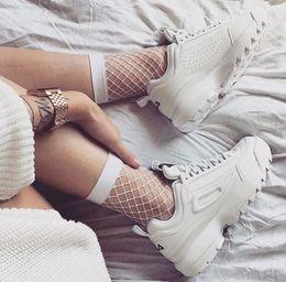 Wholesale Beige Platform Shoes - Disruptors 2 Big Sawtooth Ladies Thick Bottom Casual shoes Low Lace up Runner Shoes Women Sneakers Platform Shoes size EUR36-41
