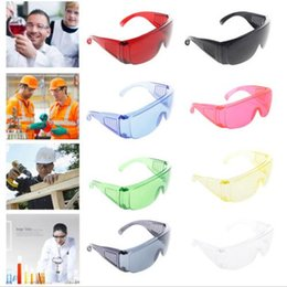 Wholesale Frameless Spectacles - Protective Safety Goggles Glasses Work Dental Eye Protection Spectacles Eyewear Labour Protection Transparent Wndshield Glasses OOA3943