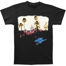 T-shirt da uomo Eagles Hotel California T-shirt stile nero Tshirt stile tee Maglietta personalizzata Jersey da