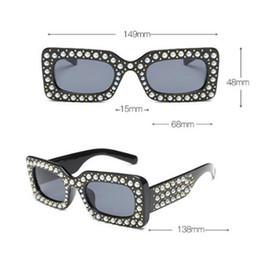 4b781880841 2019 Hot Selling Square Diamond Encrusted Sunglasses Women S Pearl Tights  Sun Glasses Black Free Shopping Designer Sunglasses Sunglasses For Women  From ...