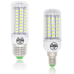 Luz de milho led e27 36 on-line-Bulbo de milho E27 E14 LED vela luz Bombillas 220 V SMD 5730 decoração de casa lâmpada para lustre holofotes 12 24 36 48 56 69LEDs
