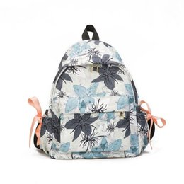 3642d632e67f Women Canvas Backpacks For Teenage Girls Travel Rucksack Fashion School Bags  For Girls Floral Printing Backpack Women Q-98