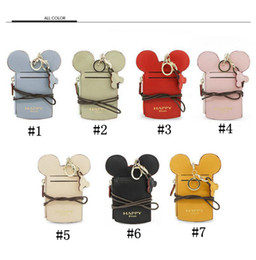 Wholesale Credit Card Holder Lanyard - Ear Wallet Card Holder Happy Dream Neck Lanyard Purse Name Credit Card Holders Coin Purse OOA4820