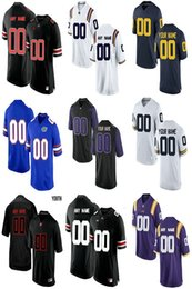 Camisetas de fútbol americano personalizado ncaa Equipos personalizados Fútbol Jersey cosido cualquier nombre Cualquier número Mix Match Orden hombres mujeres niños Jersey desde fabricantes
