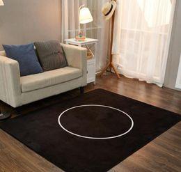combinación de ducha Rebajas 2018 Moda estilo europeo a estrenar alfombras de área de sala 150 x 200 cm antideslizante negro blanco franela alfombra muebles para el hogar regalo VIP