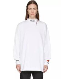 Vestidos bordados para senhoras on-line-Lady HERON PRESTON Branco Hoodies Mulheres Longa Camisola Pullover Vestido Carta Bordado Braçadeiras Camisa de Manga Longa Meninas Streetwear Unisex