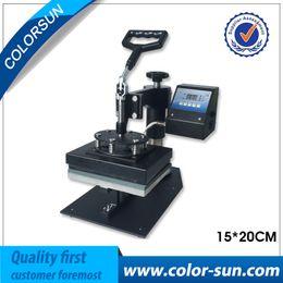 Wholesale Printer Press - 15*20cm digital tshirt flat heat press machine for small flat item on hot sales