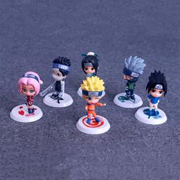führte kunststoffwaren Rabatt Naruto Action Figures Spielzeug 6 teile / los 7 cm PVC Naruto Kakashi Sasuke Action Figures Kinder Spielzeug Geschenke