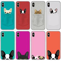 iphone case cat animal Australia - Cute Pug dog Cat Phone Case Cover For iPhone 8plus 7 5 5s SE 5c 6 6S 6Plus 6sPlus Coque Soft Clear TPU Shell Animal Design Funda