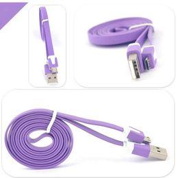 2019 cable plano del teléfono celular 1 M 3FT Cable Micro USB Sincronización Plana Noodles Data Sync Cable de Carga Cable USB Cargador de Teléfono Cordón Accesorios del Teléfono Celular rebajas cable plano del teléfono celular