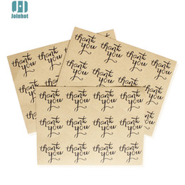 "Wholesale Wedding Thank Stickers - 120pcs ""Thank You"" Craft Packaging Seals Kraft Sealing Sticker Labels Wedding"