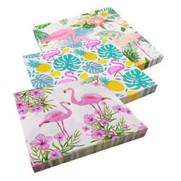 20er Pack servilletas Flamingo blanco rosa 33x33cm papel Home Fashion