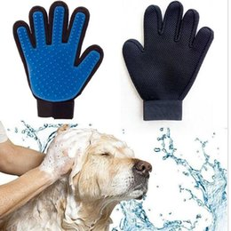 Wholesale Silicone Hair Accessories - 2018 New Arrival Silicone Grooming Glove Bath Mitt Pet Cleaning Pet Dog Cat Massage Hair Removal Grooming Magic Deshedding Glove