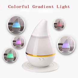 Wholesale Led Humidifier Water - Air Mini Humidifier LED Light Ultrasonic Air Humidifier Water Drop Car Purifier Aroma Home Office Atomizer Christmas Gifts YFA326