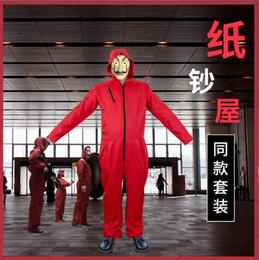 2019 kostüm ver Salvador Dali Film Kostüm Geld Heist das Haus der Papier La Casa De Papel Cosplay Halloween Party Kostüme mit Gesichtsmaske