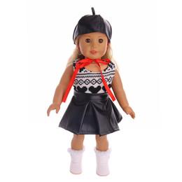 Mode cool costume de robe à la main + chapeau fit 18 pouces American Girl Doll vêtements accessoires ? partir de fabricateur