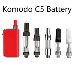 V5 ручки онлайн-Аутентичные Komodo C5 комплект 400 мАч разогреть VV батареи Vape Pen Box Mod толстые масла для Amigo Liberty V1 V5 V9 X5 картридж танк 100% подлинный