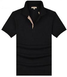 Argentina Diseñador de la marca New London Brit Polo Polo de alta calidad de verano clásico color sólido algodón manga corta Camisa Polos Sports Tees negro cheap xl polo shirt high quality Suministro