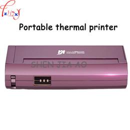 Wholesale Portable Printers - Mini Portable Mini A4 Paper Thermal Printer Home Office Car Mobile Portable Black & White Thermal Printer 20V 1PC